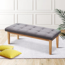 Load image into Gallery viewer, Artiss Bench Bedroom Benches Ottoman Upholstered Fabric Chair Foot Stool 120cm