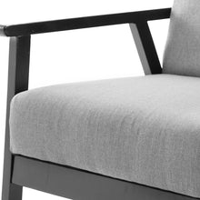 Load image into Gallery viewer, Artiss Fabric Dining Armchair - Black & Grey