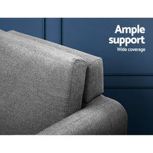 Load image into Gallery viewer, Artiss Lounge Chair Armchair with Ottoman Tub Accent Sofa Linen Fabric Grey