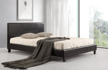 Load image into Gallery viewer, Double PU Leather Bed Frame Black