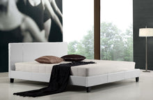 Load image into Gallery viewer, King PU Leather Bed Frame White