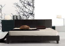 Load image into Gallery viewer, King PU Leather Bed Frame Black