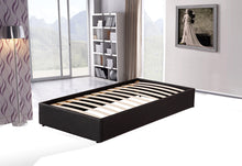 Load image into Gallery viewer, PU Leather Single Bed Ensemble Frame