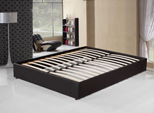 Load image into Gallery viewer, PU Leather Queen Bed Ensemble Frame