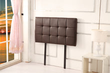 Load image into Gallery viewer, PU Leather Single Bed Deluxe Headboard Bedhead - Brown
