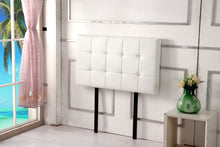 Load image into Gallery viewer, PU Leather Single Bed Deluxe Headboard Bedhead - White