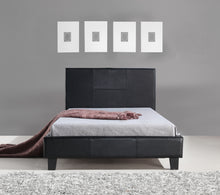 Load image into Gallery viewer, King Single PU Leather Bed Frame Black