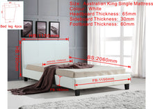 Load image into Gallery viewer, King Single PU Leather Bed Frame White