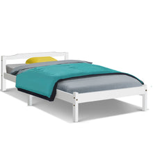 Load image into Gallery viewer, Artiss Single Size Wooden Bed Frame Mattress Base Timber Platform White