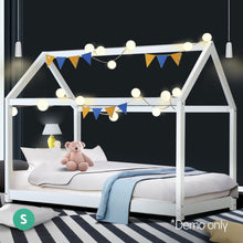 Load image into Gallery viewer, Artiss Single Size Wooden Bed Frame Mattress Base Pine Timber Platform White