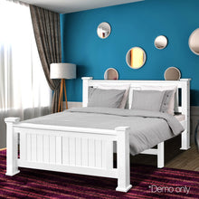 Load image into Gallery viewer, Double Size Wooden Bed Frame - White