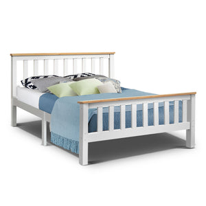 Artiss Double Full Size Wooden Bed Frame PONY Timber Mattress Base Bedroom Kids