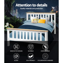 Load image into Gallery viewer, Artiss Double Full Size Wooden Bed Frame PONY Timber Mattress Base Bedroom Kids
