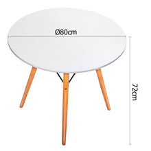 Load image into Gallery viewer, Artiss Round Wooden Dining Table - White