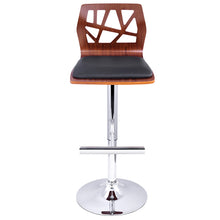 Load image into Gallery viewer, Artiss Set of 2 Wooden Gas Lift  Bar Stools - Black