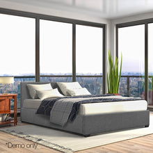 Load image into Gallery viewer, Artiss Queen Size Fabric and Wood Bed Frame Headborad - Grey