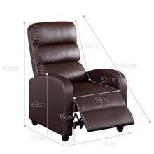 Load image into Gallery viewer, Luxury Leather Recliner Chair Armchair - Brown