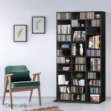 Load image into Gallery viewer, Artiss Adjustable Book Storage Shelf Rack Unit - Black