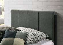 Load image into Gallery viewer, Fabric Upholstered Bed Frame in Charcoal - Double