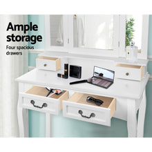 Load image into Gallery viewer, Artiss Dressing Table with Mirror - White