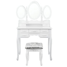 Load image into Gallery viewer, Artiss 7 Drawer Dressing Table with Mirror - White