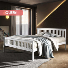 Load image into Gallery viewer, Wooden Bed Frame White - Queen