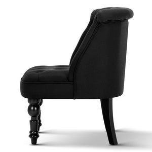 Artiss Fabric Occasional Accent Chair - Black