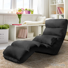 Load image into Gallery viewer, Artiss Adjustable Lounge Sofa Chair - Black