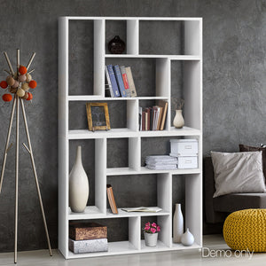 Artiss DIY L Shaped Display Shelf - White