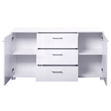 Load image into Gallery viewer, Artiss High Gloss Sideboard Storage Cabinet Cupboard - White