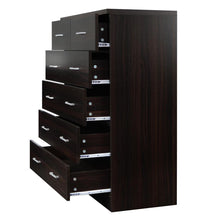 Load image into Gallery viewer, Artiss Tallboy 6 Drawers Storage Cabinet - Walnut