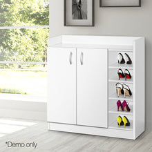 Load image into Gallery viewer, Artiss 2 Doors Shoe Cabinet Storage Cupboard - White