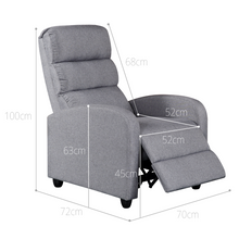 Load image into Gallery viewer, Luxury Fabric Recliner Chair - Grey