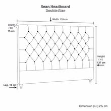Load image into Gallery viewer, Sean Headboard Double Size