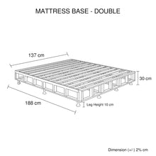Load image into Gallery viewer, Mattress Base Double Size Black