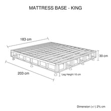 Load image into Gallery viewer, Mattress Base King Size Black