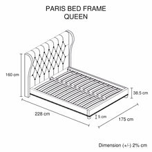 Load image into Gallery viewer, Paris Bedframe Queen Size Beige