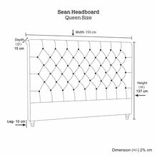Load image into Gallery viewer, Sean Headboard Queen Size