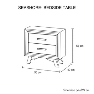 Seashore Bedside 2 Drawers