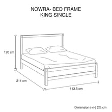 Load image into Gallery viewer, Nowra King Single Bed