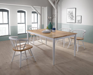 Dining Table Solid Rubberwood Danish Natural Oak