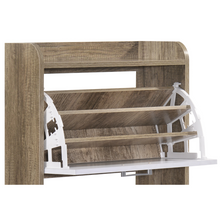 Load image into Gallery viewer, Large Shoe Cabinet Rack Oak
