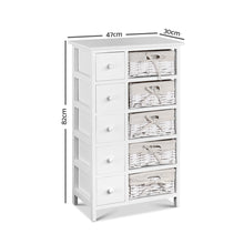 Load image into Gallery viewer, Artiss 5 Basket Storage Drawers - White