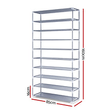 Load image into Gallery viewer, 10 Tier Stackable Shoe Rack