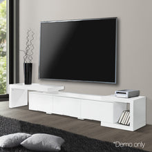 Load image into Gallery viewer, Artiss High Gloss Adjustable TV Stand Entertainment Unit - White