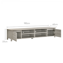 Load image into Gallery viewer, TV Stand Entertainment Unit 180cm In White Oak