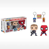 Captain America 3-Captain America, Iron Man, Hawkeye, Spider-Man 4-Pack