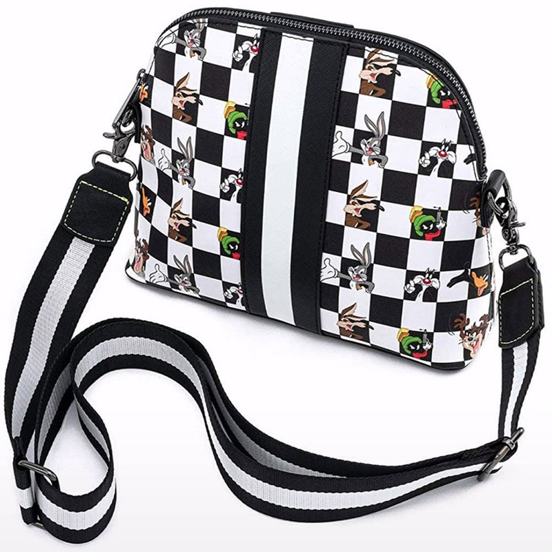 Looney Tunes Character Checker Print Cross Body Bag
