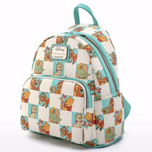 Disney Classics Mint Checkered All Over Print Mini Backpack