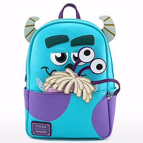 Pixar Monsters Inc. Sully Cosplay Mini Backpack W/ Boo Coin Purse